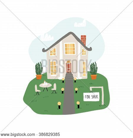 An Idealistic Picture Of A Dream House, Cute Home For Sale With A Neat Lean, Neutral Cozy Decoration