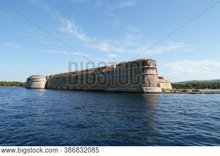 Fortress Of St. Nicholas At The Entrance To Sibenik Bay, Croatia