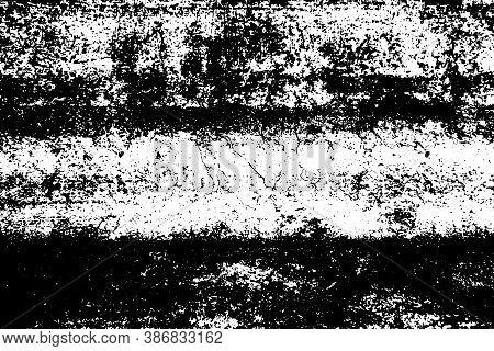 Grunge Black And White Urban Vector Texture. Dark Messy Overlay