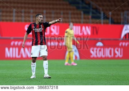 Milano, Italy. 24th September 2020. Uefa Europa League. Ismael Bennacer  Of Ac Milan   During The Ue