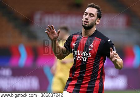 Milano, Italy. 24th September 2020. Uefa Europa League. Hakan Calhanoglu  Of Ac Milan   During The U
