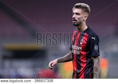 Milano, Italy. 24th September 2020. Uefa Europa League. Samu Castillejo  Of Ac Milan   During The Ue