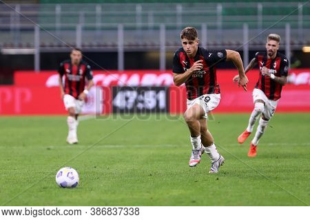 Milano, Italy. 24th September 2020. Uefa Europa League. Lorenzo Colombo Of Ac Milan   During The Uef