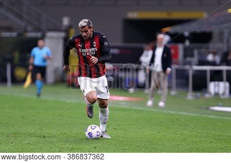 Milano, Italy. 24th September 2020. Uefa Europa League. Theo Hernandez  Of Ac Milan   During The Uef