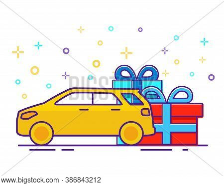 Special Offer Car Suv Gift. Present Off-road Vehicle.