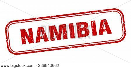 Namibia Stamp. Namibia Red Grunge Isolated Sign