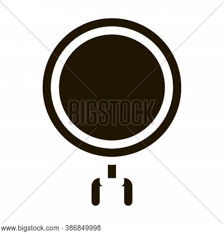 Graph In Magnifier Glass Agile Element Glyph Icon . Agile Rocket And Document, Gear And Package, Lou