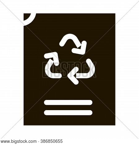 Eco Recycle Vacuum Package Packaging Glyph Icon . Carton Open And Closed Packaging Pictogram. Parcel