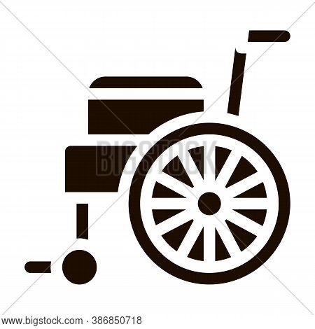 Self-propelled Wheelchair Equipment Glyph Icon . Orthopedic And Trauma Rehabilitation, Belt And Whee