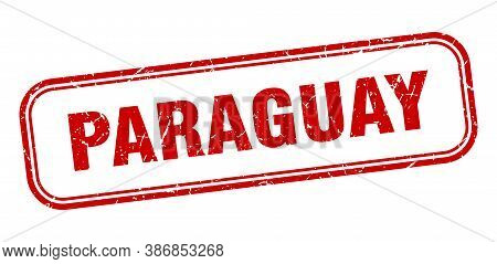 Paraguay Stamp. Paraguay Red Grunge Isolated Sign