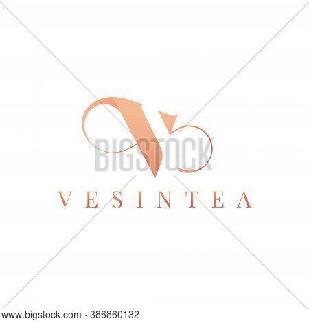 V Letter Lettermark Logo Monogram - Typeface Type Emblem Character Trademark