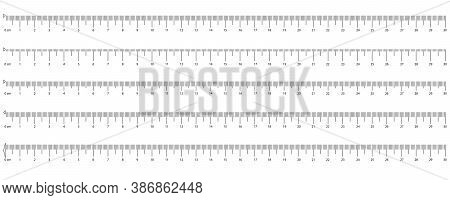 The Release Of The Ruler. Measuring Tool. Measurement Scale, Markup For A Ruler. Different Unit Dist