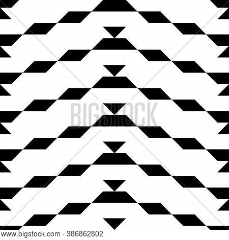 Seamless Surface Pattern Design With Parallelograms, Triangles And Trapezoids. Polygons Abstract Wal