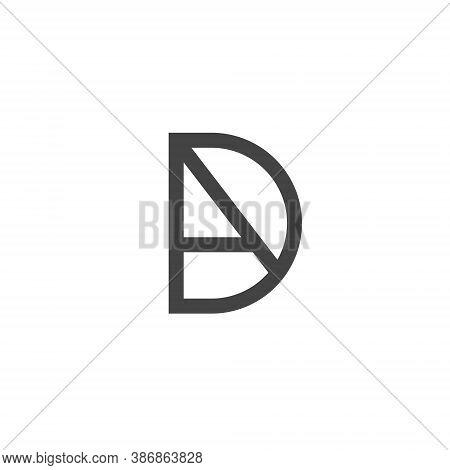 D A Letter Lettermark Logo Da Monogram - Typeface Type Emblem Character Trademark