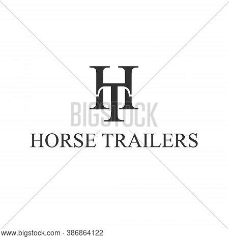 H T Letter Lettermark Logo Ht Monogram - Design Element Typeface Type Vintage Sign Emblem Typeset Co
