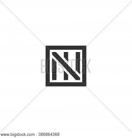 N I Letter Lettermark Logo Ni Monogram - Typeface Type Emblem Character Trademark