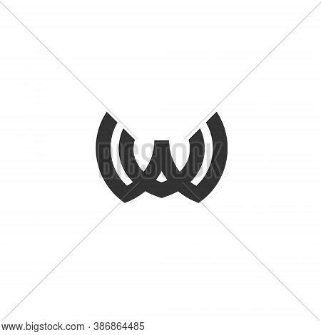 W V Letter Lettermark Logo Wv Monogram - Typeface Type Emblem Character Trademark