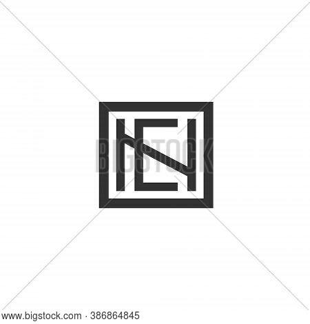 N E Letter Lettermark Logo Ne Monogram - Typeface Type Emblem Character Trademark