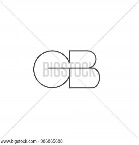 G B Letter Lettermark Logo Gb Onogram - Typeface Type Emblem Character Trademark