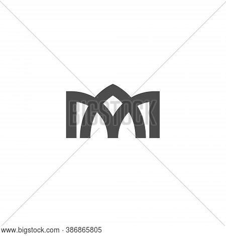 Ma Letter Lettermark Logo M A Monogram - Design Element Typeface Type Vintage Sign Emblem Typeset Co