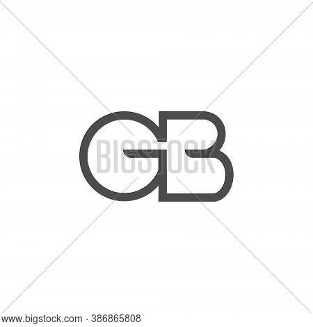 Gb Letter Lettermark Logo G B Monogram - Typeface Type Emblem Character Trademark
