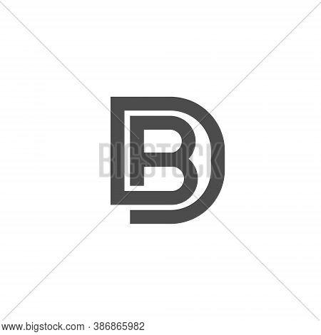 Bd Letter Lettermark Logo B D Monogram - Design Element Typeface Type Vintage Sign Emblem Typeset Co