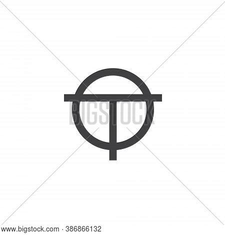 To Letter Lettermark Logo T O Monogram - Design Element Typeface Type Vintage Sign Emblem Typeset Co