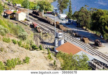 railway station in Tua, Douro Valley, Portugal poster