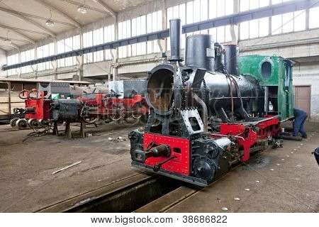 steam locomotives in depot, Banovici, Bosnia and Hercegovina