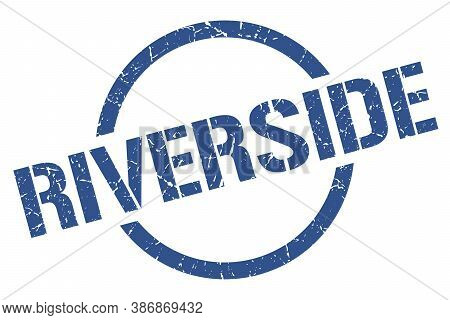 Riverside Stamp. Riverside Grunge Round Isolated Sign