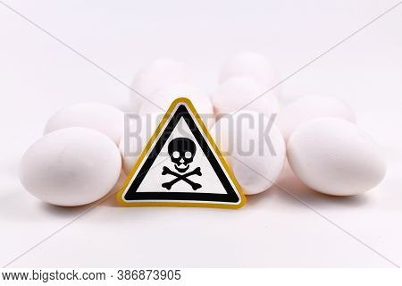 Concept For Unhealthy Or Toxic Substances In Food Like Antibiotic Residues Or Salmonella Bacteria Wi