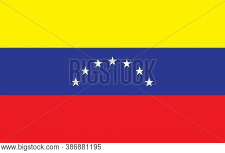 Vector Image Of The Flag Of The State Of  Venezuela. Flag In Vector Illustration