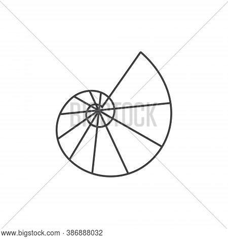 Shell Logo Design - Vector Illustration Ocean Seashell Sea Beach Marine Nature Animal Exotic Decorat