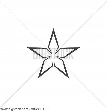 Star Logo - Abstract Symbol Rating Review Sparkle Rank Ranking Web Success Award Magic Quality Invit