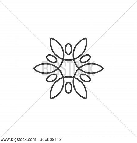 Water Lily Lotus Logo Flower Logo - Beauty Spa Flower Symbol Wellness Health Meditation Beauty Luxur