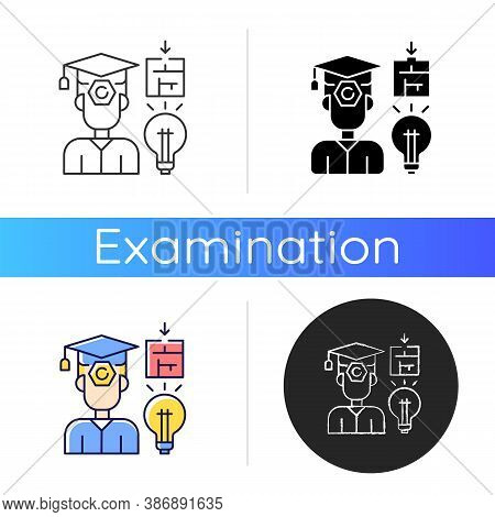 Case Based Exam Icon. Problems Solution And Idea. Hard Skills. Defence Of Competition. Examination.