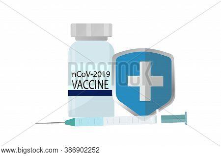 Covid-19 Virus Vaccine, Syringe Injection, Prevention, Immunization, Cure And Treatment For Coronavi