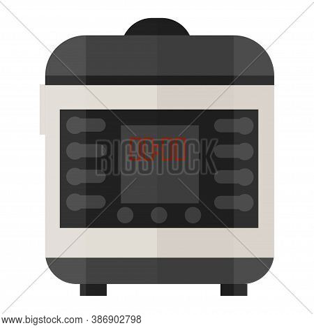 Slow Cooker In Vector Design Isolated On White Background In Grey Colours. Electronic, Technology, S