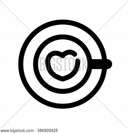 Coffee With Heart Outline Icon. The Item From Set Dedicated To Coffee And Coffee Shops, As Well As R