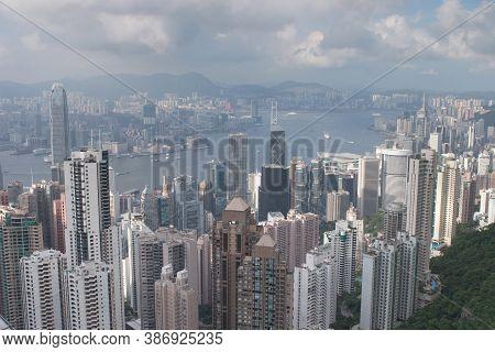 3 June 2007 Skyline Of Hong Kong City From The Peak