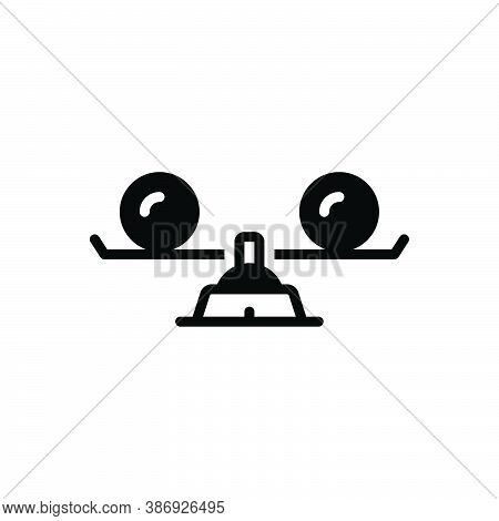Black Solid Icon For Equal Similar Identical Tantamount Balanced Compare Identical Comparable Judgme