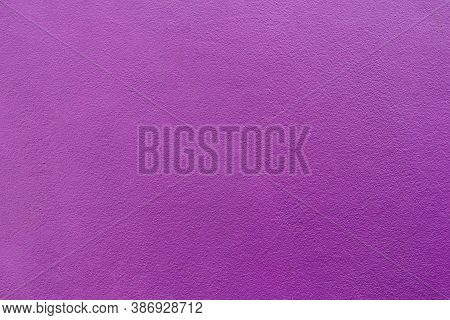 Purple Cement Or Concrete Wall Texture For Background. High Resolution Through Process Retouch. Pain