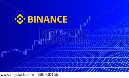 Binance Cryptocurrency Stock Market Name With Logo On Abstract Digital Background. Crypto Stock Exch