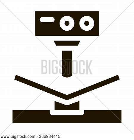Breaking Tool Factory Metallurgical Icon Vector . Contour Illustration