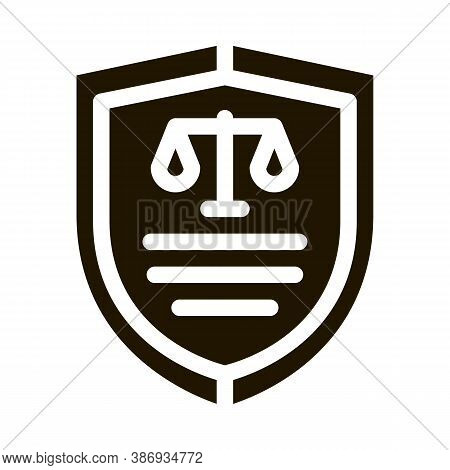 Court Icon Law And Judgement Icon Vector . Contour Illustration