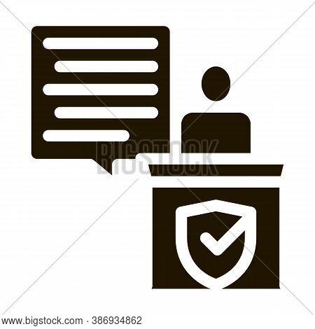 Judgement Document Law Icon Vector . Contour Illustration