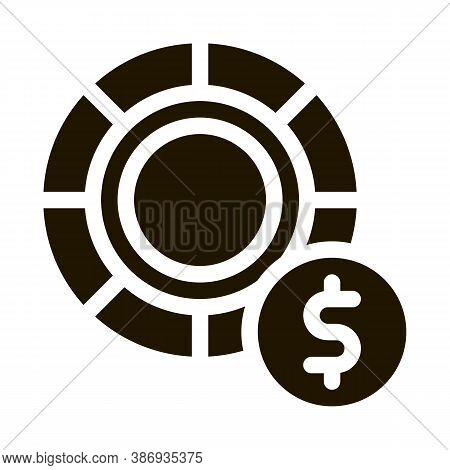Poker Betting And Gambling Icon Vector . Contour Illustration