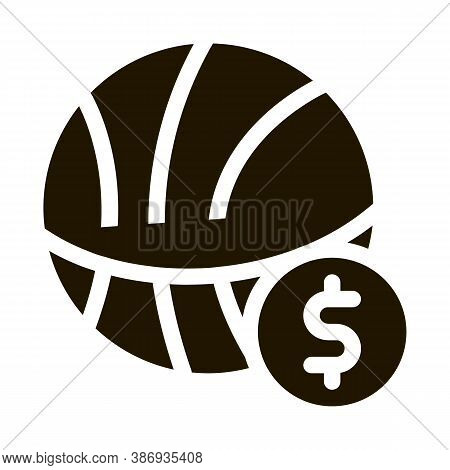 Basketball Ball Betting And Gambling Icon Vector . Contour Illustration