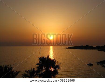 sunset at Ibiza, Spain