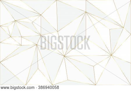 Abstract Geometric Layout Background With White And Gold Element. Abstract Modern Background. Elegan